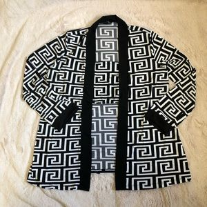 Fashion Nova Geometric Cardigan & Tube Top Set